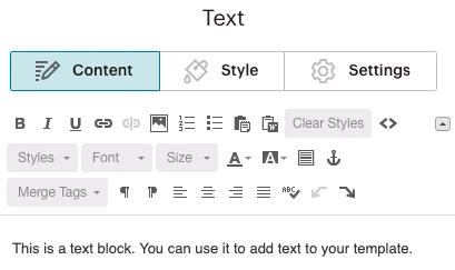 Textblock-Contenttab