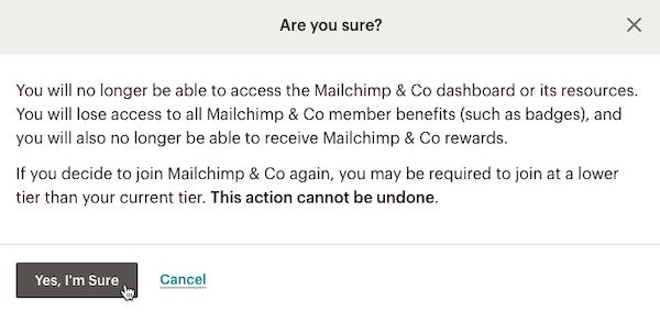 Cursor Clicks - Yes Im Sure - Mailchimp & Co Disconnect