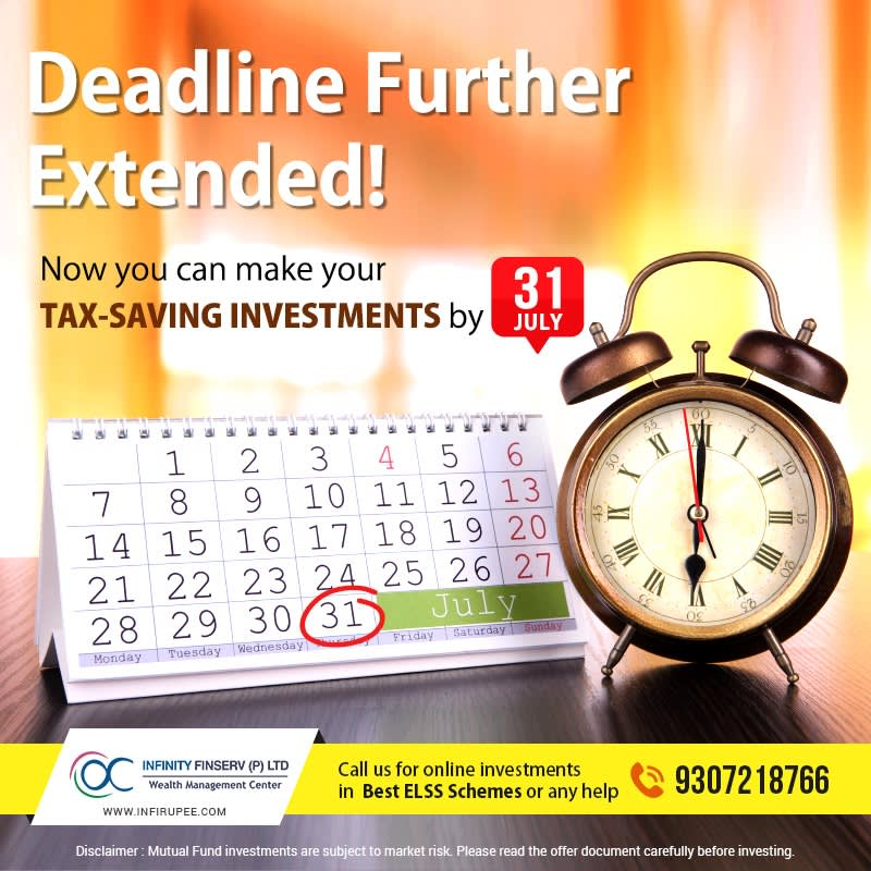"""Image of a clock and calendar with text """"Deadline further extended!"""""""