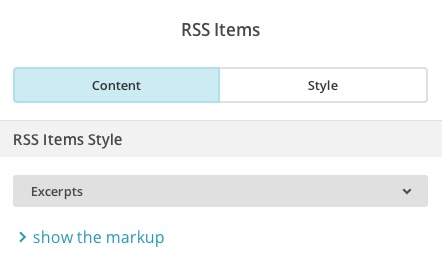 Choose content for RSS Items