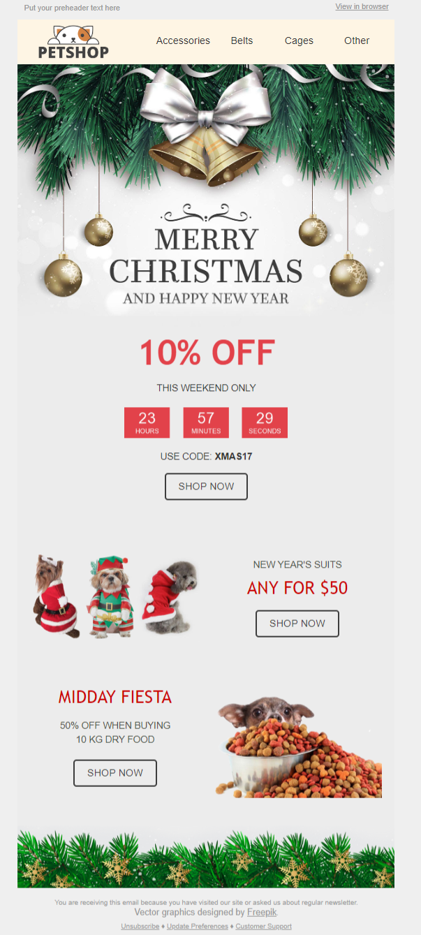 Image of Petshop Christmas campaign