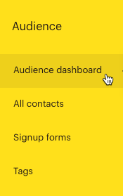 Curseur cliquant sur - Audience dashboard (Tableau de bord d'audience)