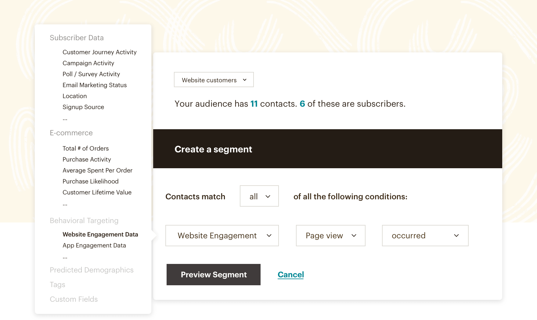 A look at Mailchimp's Segmentation tools