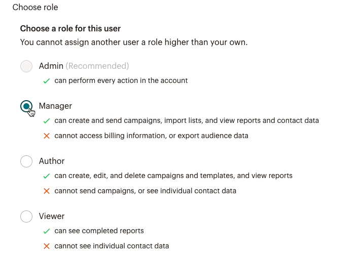 Cursor Clicks - Radio Button - Choose role for agency colleague