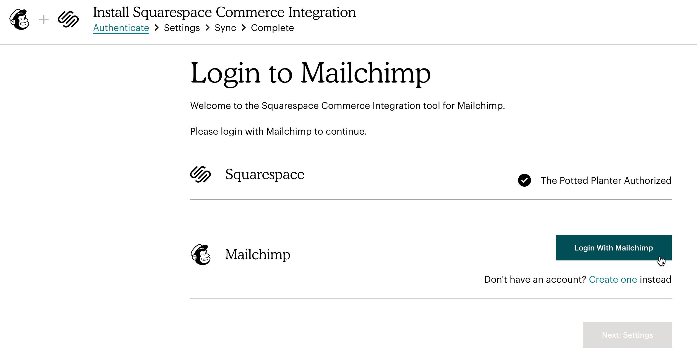 Squarespace-MC-Login