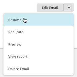 click resume automation email