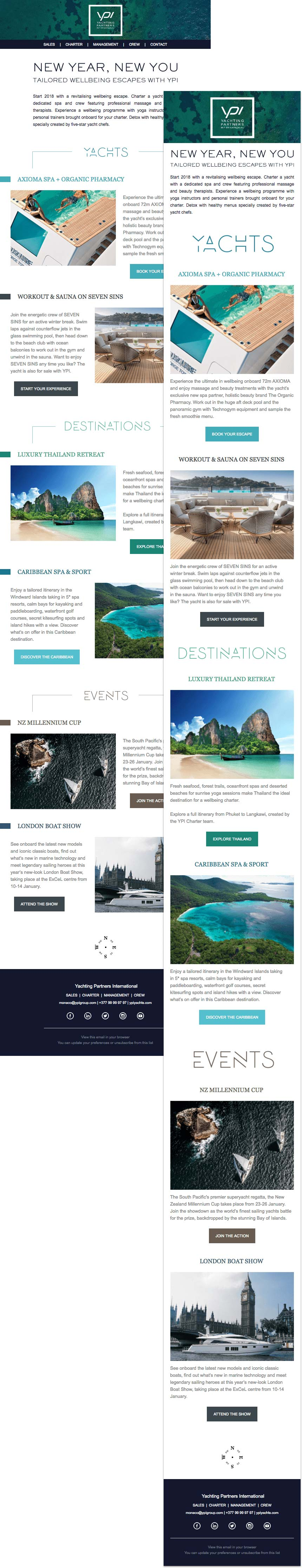 Image of Yachting Partners International newsletters.