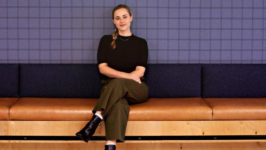 Marissa Jimenez, Hawke Director of Email Marketing, sits for photo.