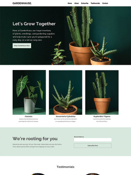 The website for Gardenhaus
