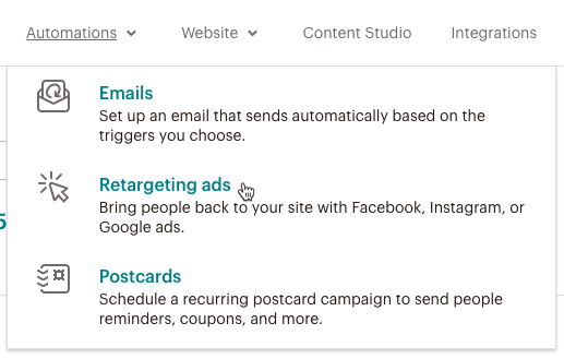 Cursor Clicks - Retargeting ads - Automations