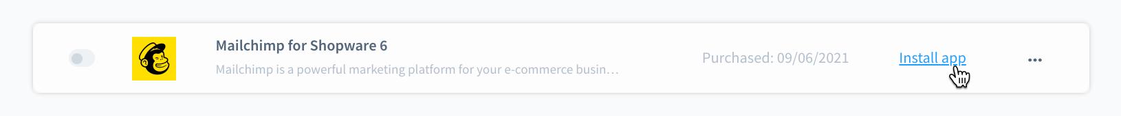 Cursor Clicks - Install App - Shopware 6