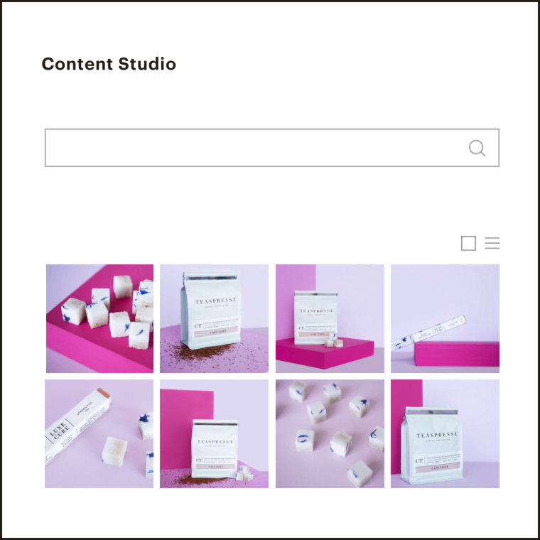 Our Content Studio showcasing various images of products