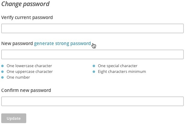 Generate password option
