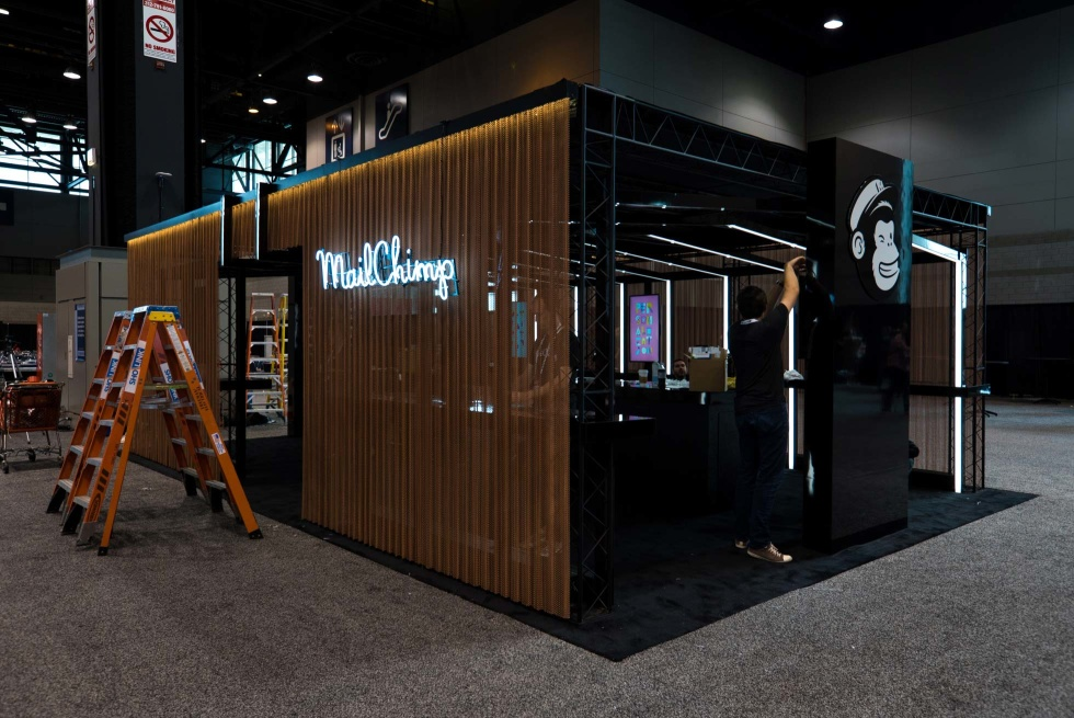 A Mailchimp booth