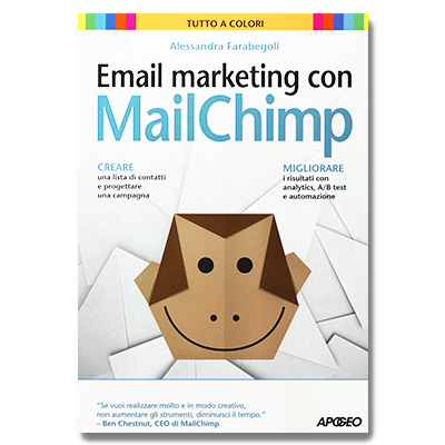 Image of a chimp with the text Email marketing con Mailchimp