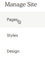 Manage Site - Pages