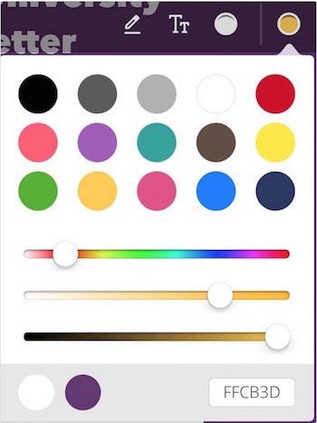 Color picker for Button.
