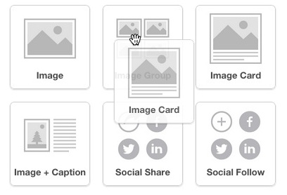 Click and drag Image Card into layout