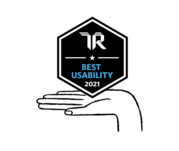 2021 TrustRadius Awards badge for Best Usability