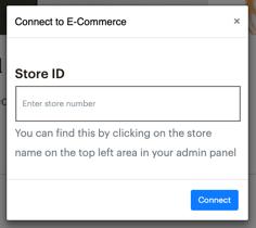 ID de la tienda Lightspeed eCom