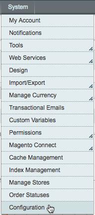 click configuration