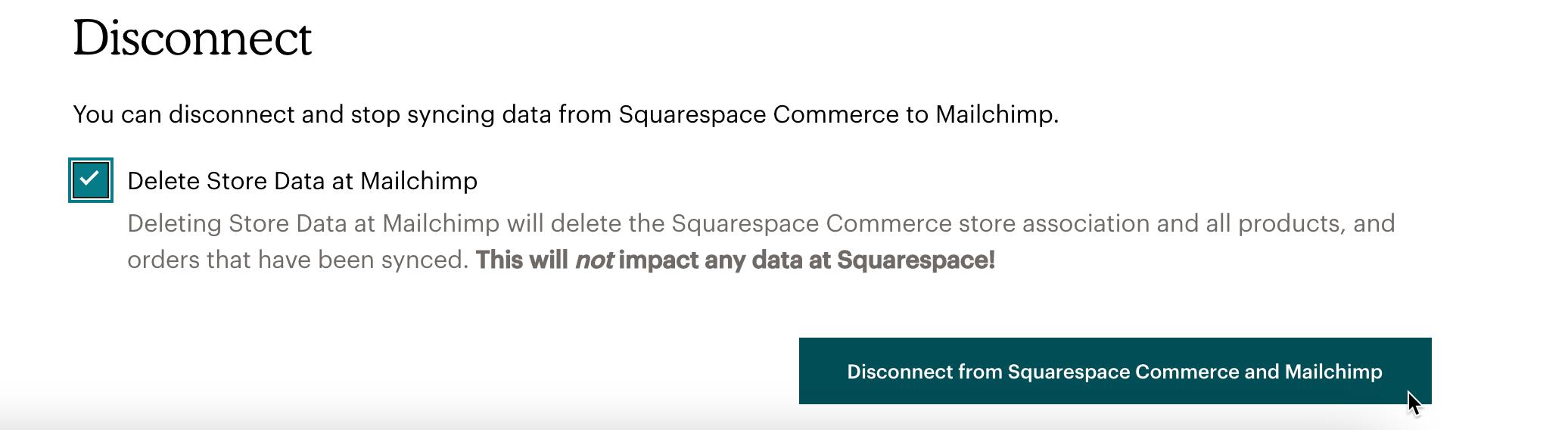 Squarespace-Disconnect