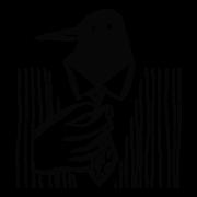 Illustration of a bird adjusting it's necktie