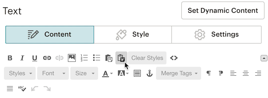 Paste from rich text editor (Word) icon