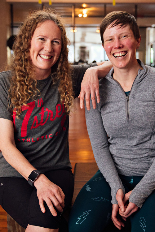 Shannon Boughn and Marissa Axell, co-founders of 17th Street Athletic Club