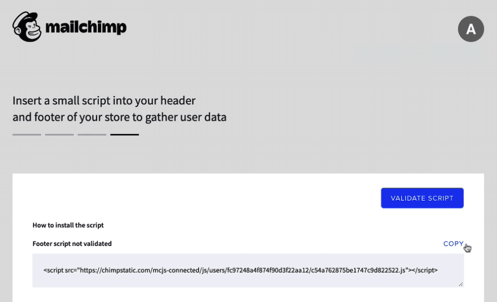 Mailchimp for BigCommerce - Cursor Clicks Copy Script