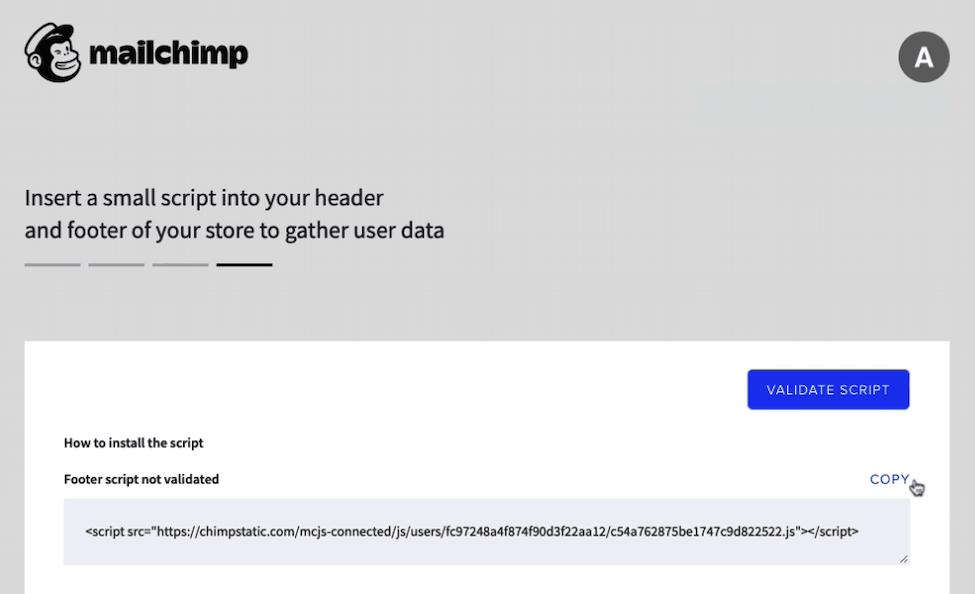 Mailchimp for BigCommerce - Cursor Clicks Copy Script