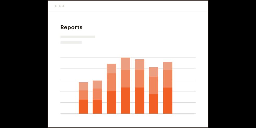 Reports bar chart.