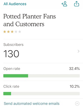 ios audience view