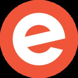 Orange circle - white logo