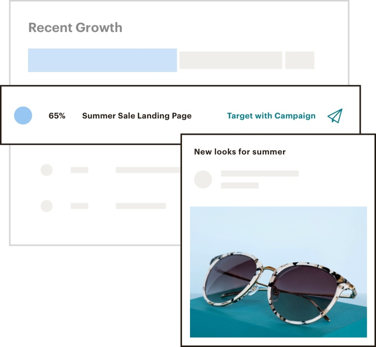 UI showing clicking into a segment of the audience dashboard to send a campaign