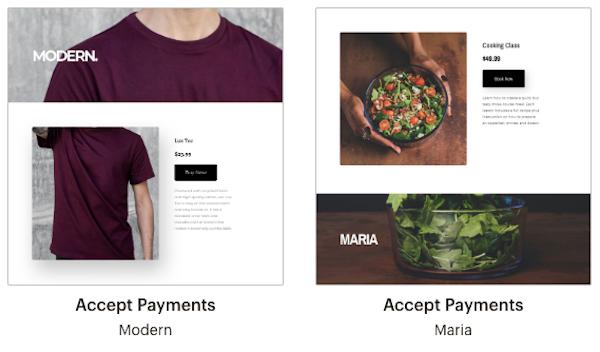 accept payments (accepter des paiaments)-pages de renvoi-modèles