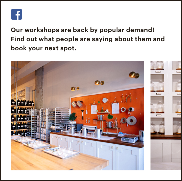 Abstract UI of a FB post sharing a press clipping or company update