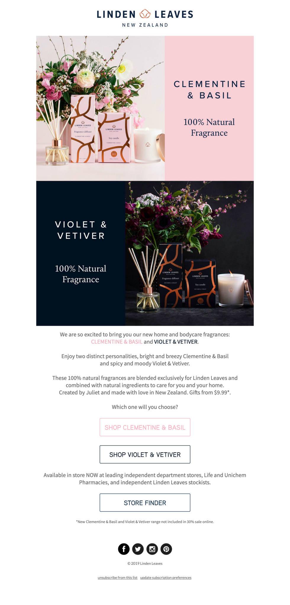 Image of linden leaves newsletter