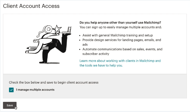 Client-account-access