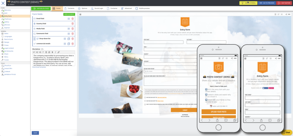 Image of a entry form builder