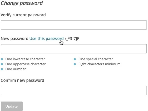 Use password confirmation