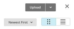 Captura de tela das opções de carregamento.
