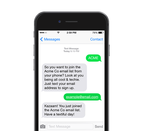 Image of phone with text messages on screen