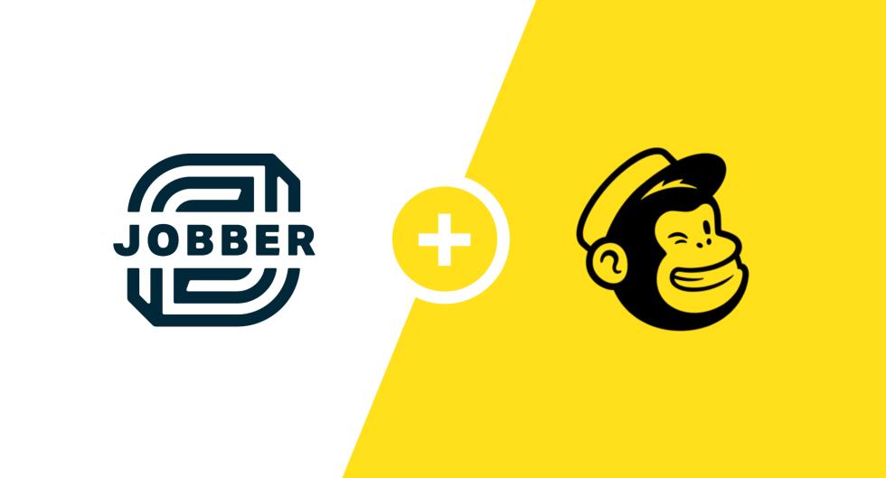 Image of Jobber logo and Mailchimp logo