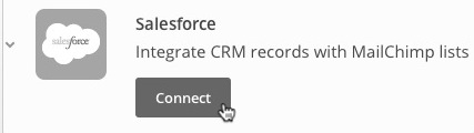 Connect button for SaleForce integration