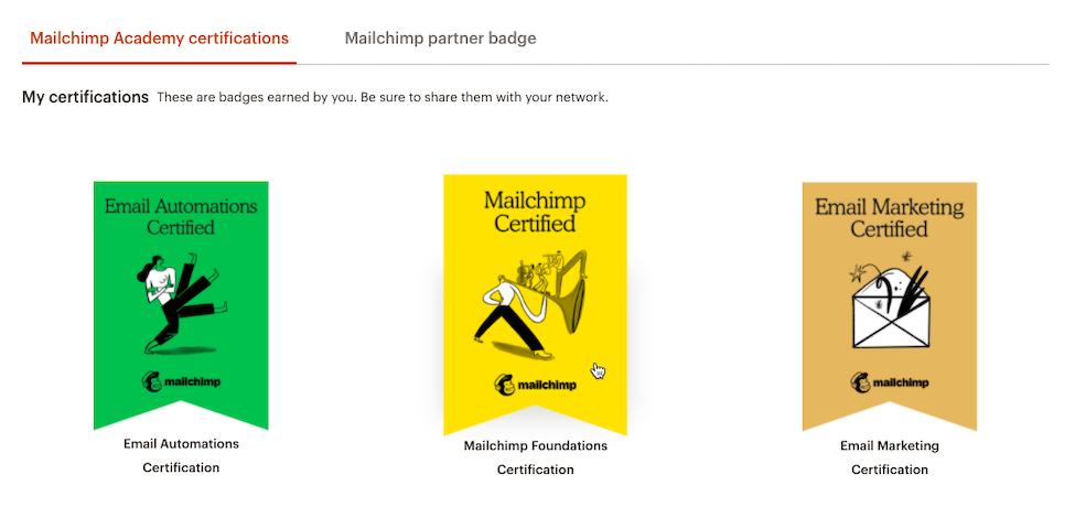 Mailchimp & Co Badges
