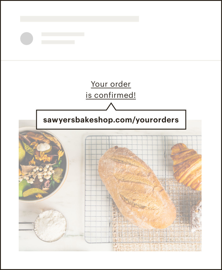 An example of a transactional email in Mailchimp