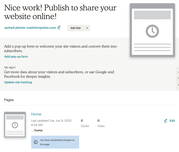 create-website-saved-dashboard