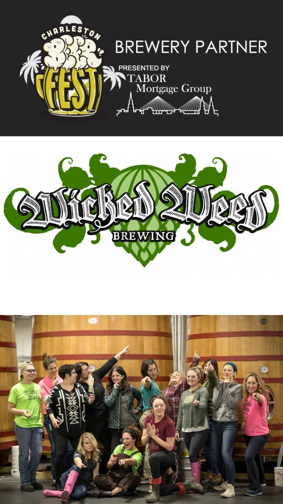 Image of Charleston Beer Fest logo with the text Brewery Partner