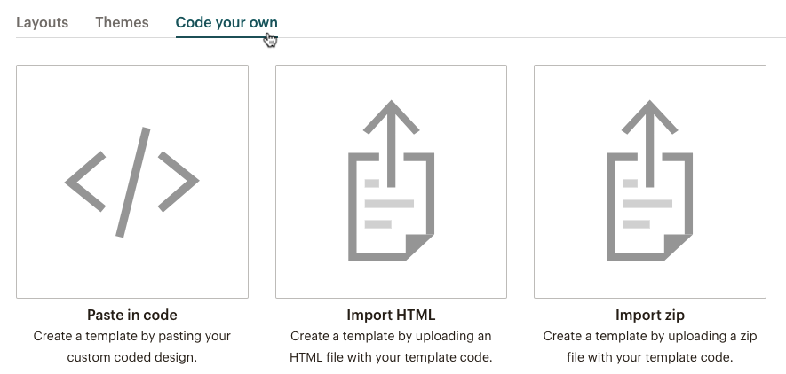 types of templates